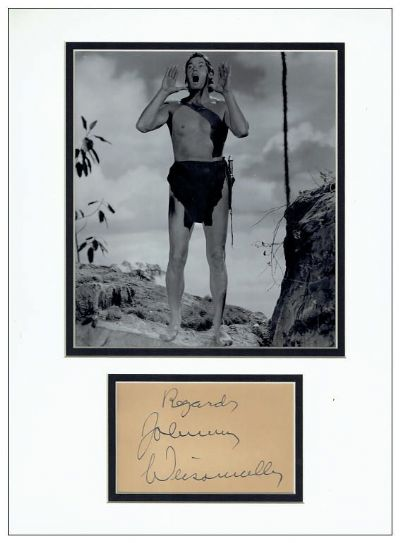 Johnny Weissmuller Autograph Signed Tarzan For Sale